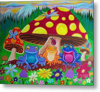 Happy Frog Meadows Metal Print by Nick Gustafson