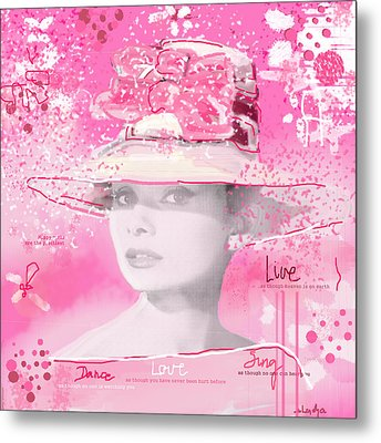 Happy Girl Metal Print
