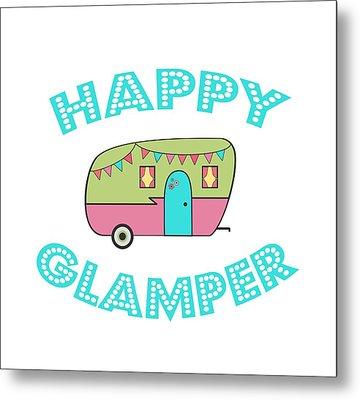 Happy Glamper 1 Metal Print