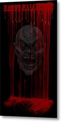 Happy Halloween Metal Print by Evelyn Patrick