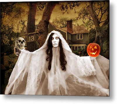 Happy Halloween Metal Print by Jessica Jenney