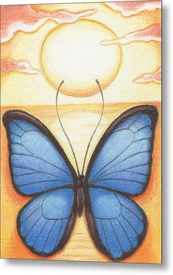 Happy Heart Metal Print by Amy S Turner