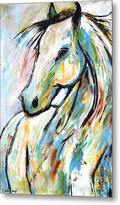 Metal Print featuring the painting Happy Heart by Cher Devereaux
