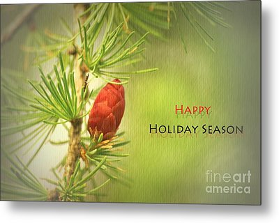 Happy Holiday Season Card Metal Print by Aimelle