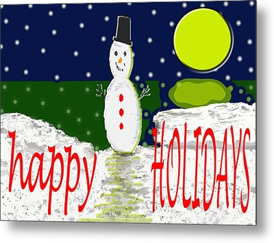 Happy Holidays 107 Metal Print by Patrick J Murphy
