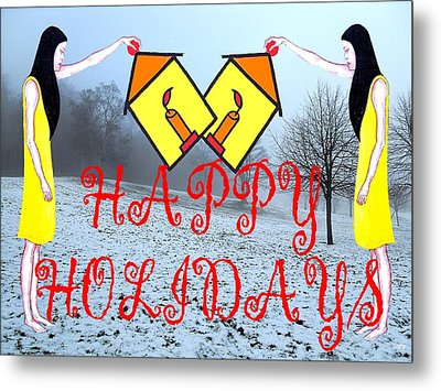 Happy Holidays 31 Metal Print by Patrick J Murphy