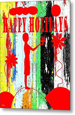 Happy Holidays 62 Metal Print by Patrick J Murphy