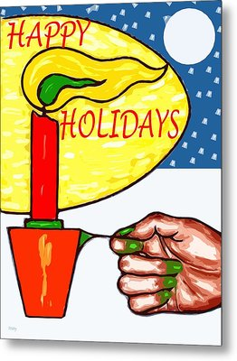 Happy Holidays 72 Metal Print by Patrick J Murphy