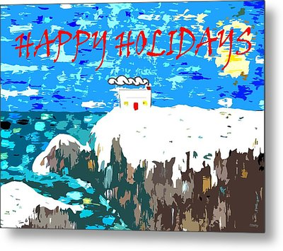 Happy Holidays 90 Metal Print by Patrick J Murphy