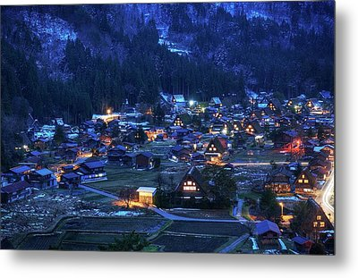 Metal Print featuring the photograph Happy Holidays From Japan by Peter Thoeny