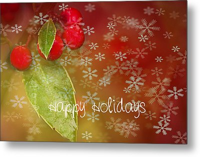 Happy Holidays Metal Print by Rebecca Cozart