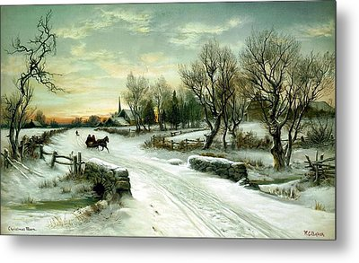 Metal Print featuring the painting Happy Holidays by Travel Pics