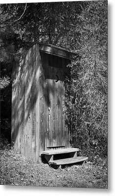 Happy Hollow Outhouse Metal Print