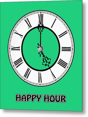 Happy Hour - Green Metal Print