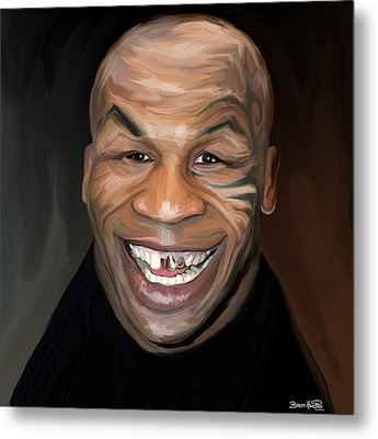 Happy Iron Mike Tyson Metal Print by Brett Hardin