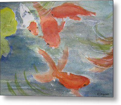 Happy Koi Metal Print