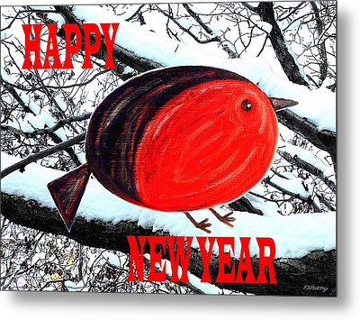 Happy New Year 16 Metal Print by Patrick J Murphy