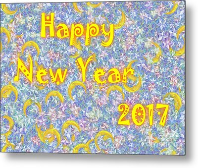 Happy New Year 2017 Metal Print by Jean Bernard Roussilhe