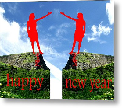 Happy New Year 36 Metal Print