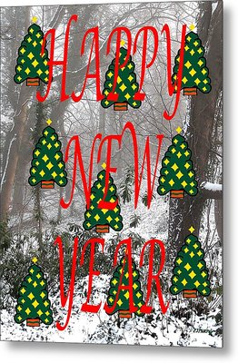 Happy New Year 60 Metal Print by Patrick J Murphy