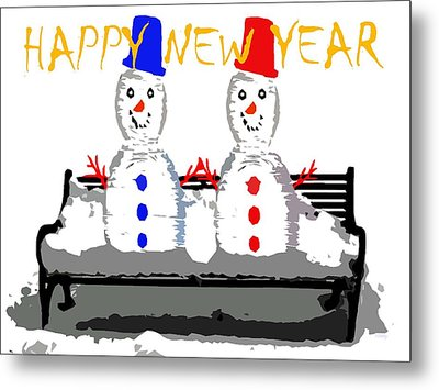 Happy New Year 98 Metal Print by Patrick J Murphy