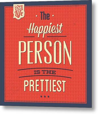 Happy Person Metal Print