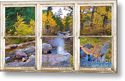 Happy Place Picture Window Frame Photo Fine Art Metal Print