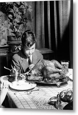 Happy Thanksgiving Metal Print by American School