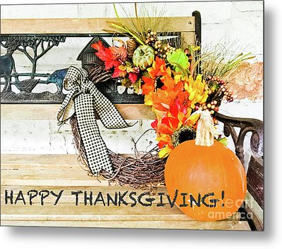 Happy Thanksgiving Metal Print by Barbara Shallue