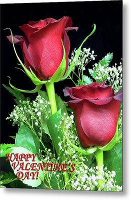 Metal Print featuring the photograph Happy Valentines Day by Sandi OReilly