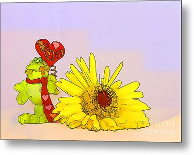 Metal Print featuring the photograph Happy Valentine's Day by Teresa Zieba