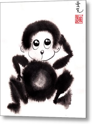 Happy Year Of The Monkey Metal Print by Oiyee At Oystudio