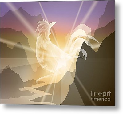Harbinger Of Light Metal Print