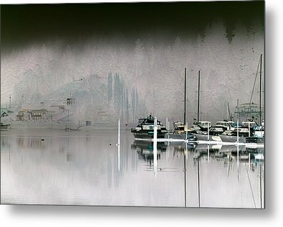 Harbor And Boats Metal Print
