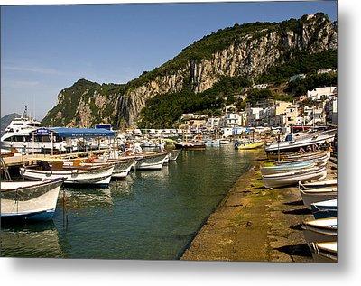 Harbor Capri Italy Metal Print by Xavier Cardell