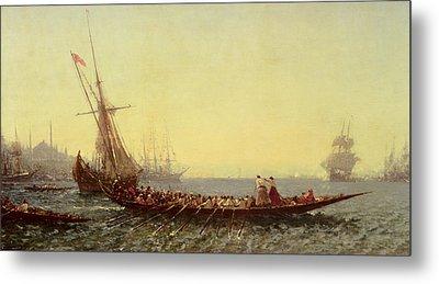 Harbor In Constantinople Metal Print by Felix Ziem