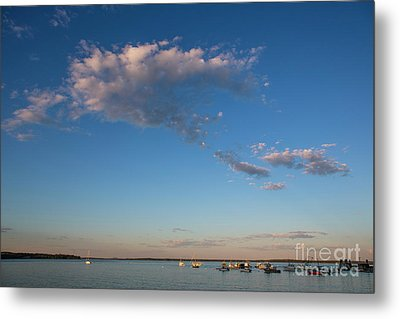 Harbor In Lincolnville,maine Metal Print by Diane Diederich