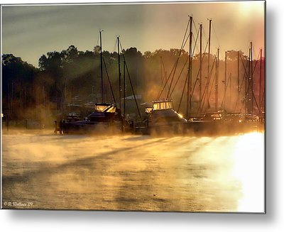 Metal Print featuring the photograph Harbor Mist by Brian Wallace