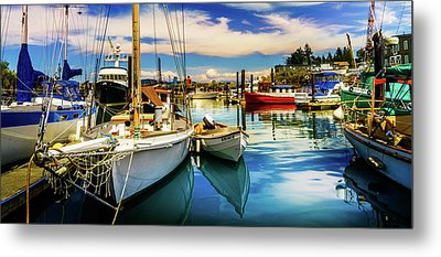 Harbor On Guemes Channel Metal Print by TL  Mair