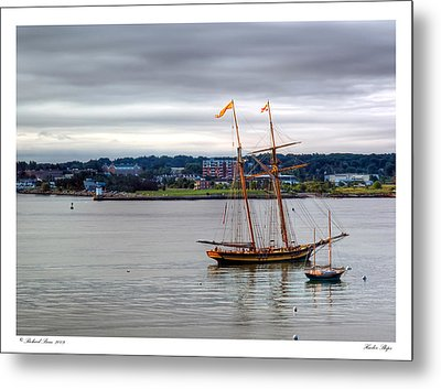 Metal Print featuring the photograph Harbor Ships by Richard Bean