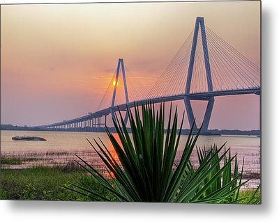 Harbor Sunset Metal Print by Drew Castelhano