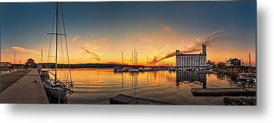 Harbour At Sunset Metal Print by Jeff S PhotoArt