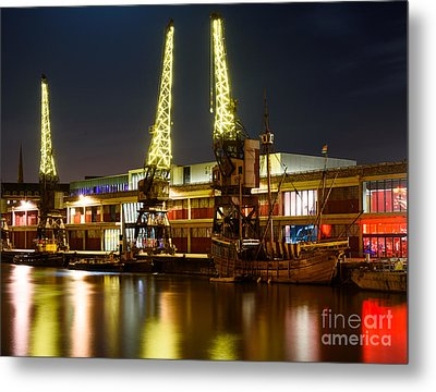Metal Print featuring the photograph Harbour Cranes by Colin Rayner