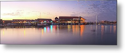 Harbour Lights, Hillarys Boat Harbour Metal Print by Dave Catley