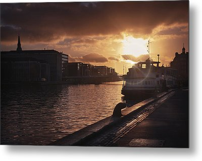 Harbour Sunset Copenhagen Metal Print by Carol Japp