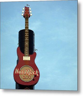Hard Rock Cafe Metal Print by Joseph Skompski