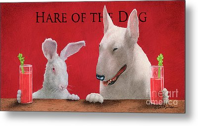 Hare Of The Dog...the Bull Terrier.. Metal Print