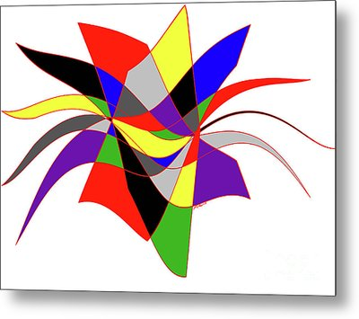 Harlequin Flower Metal Print