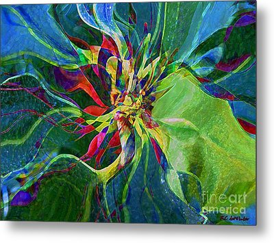 Harlequin Poinsettia Metal Print by RC DeWinter
