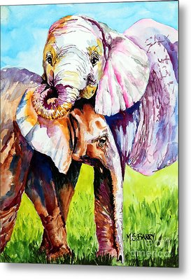 Harley And Bentley Metal Print by Maria Barry